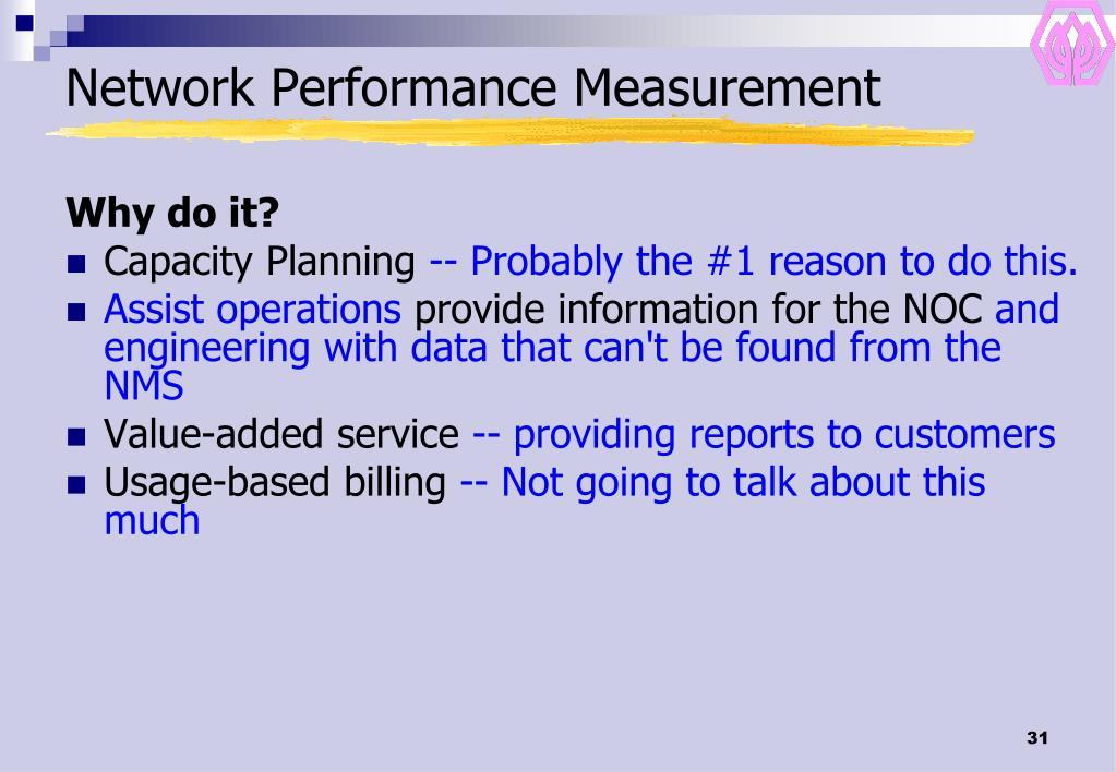 Network Performance Measurement