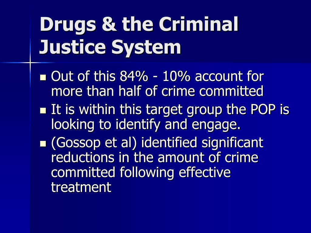 Drugs & the Criminal Justice System