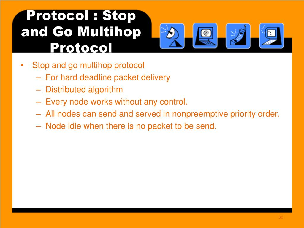 Protocol : Stop and Go Multihop Protocol