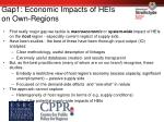 gap1 economic impacts of heis on own regions