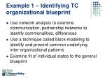 example 1 identifying tc organizational blueprint