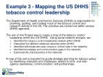 example 3 mapping the us dhhs tobacco control leadership