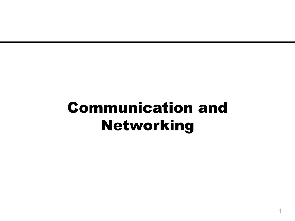 communication and networking l.