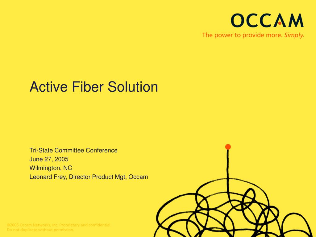 Active Fiber Solution