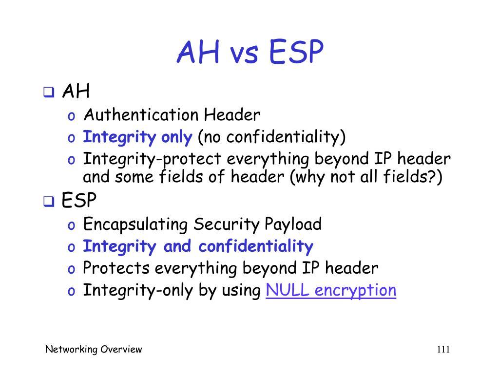 AH vs ESP