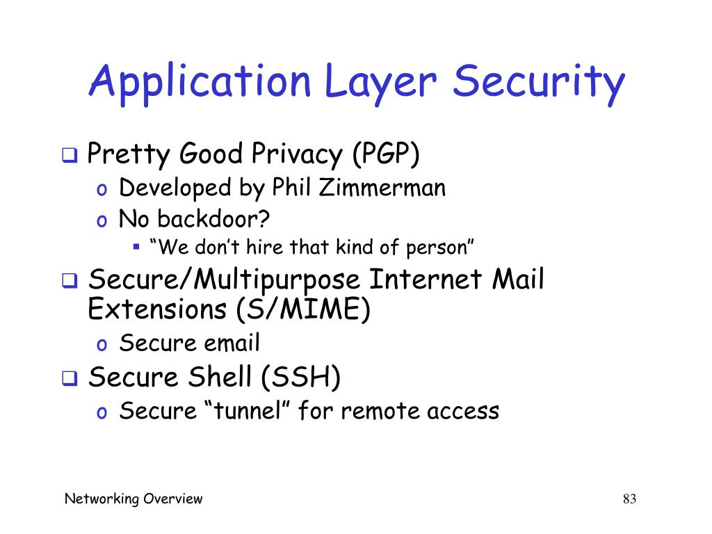 Application Layer Security