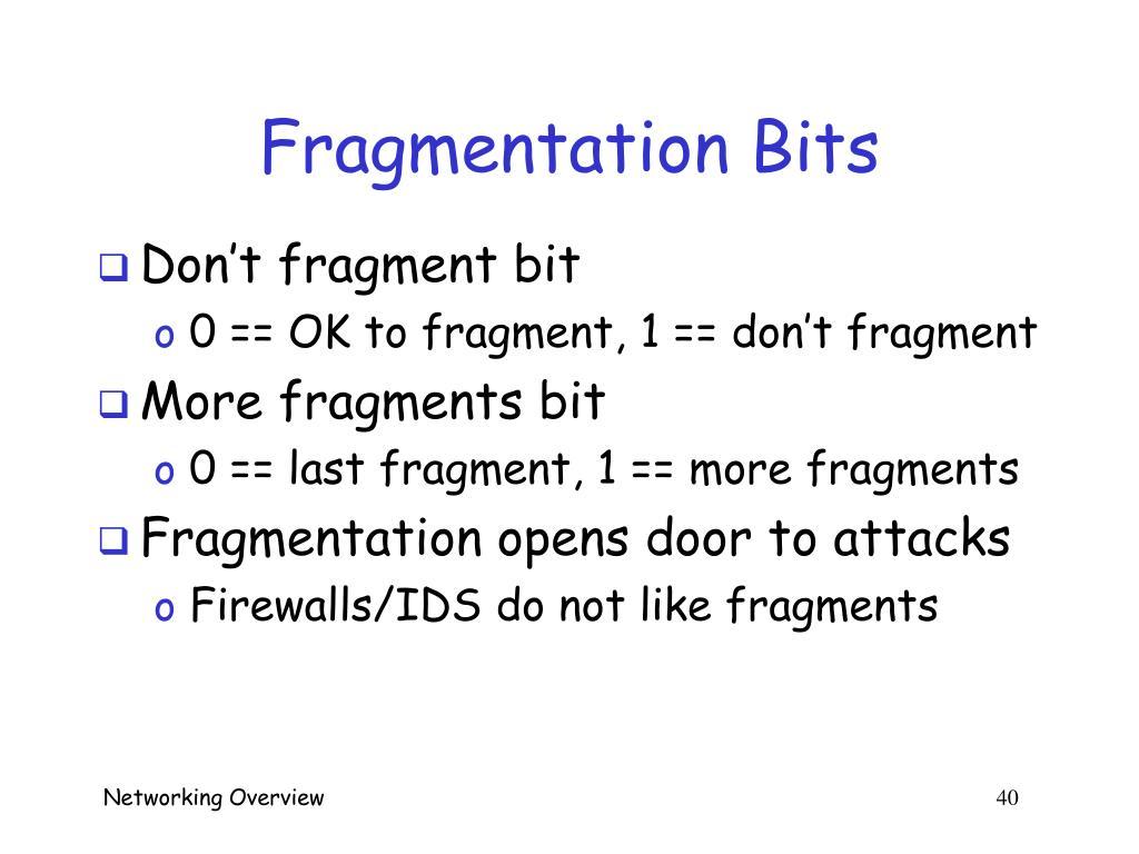 Fragmentation Bits
