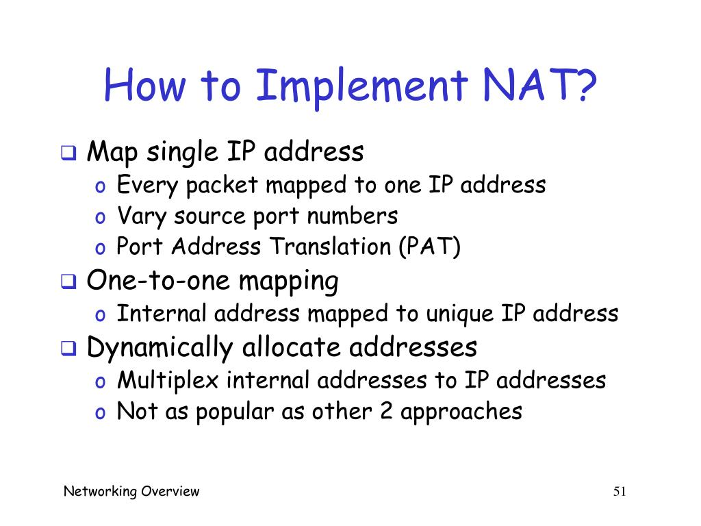 How to Implement NAT?