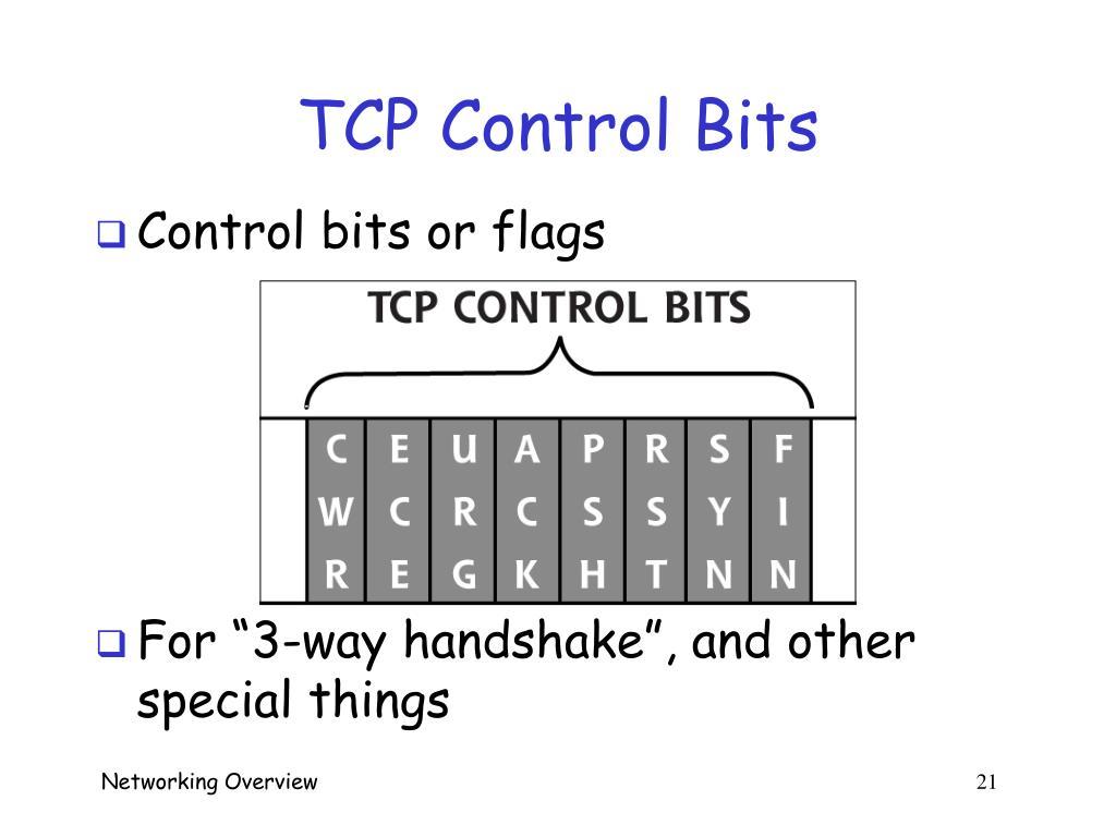 TCP Control Bits