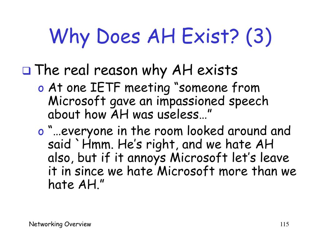 Why Does AH Exist? (3)