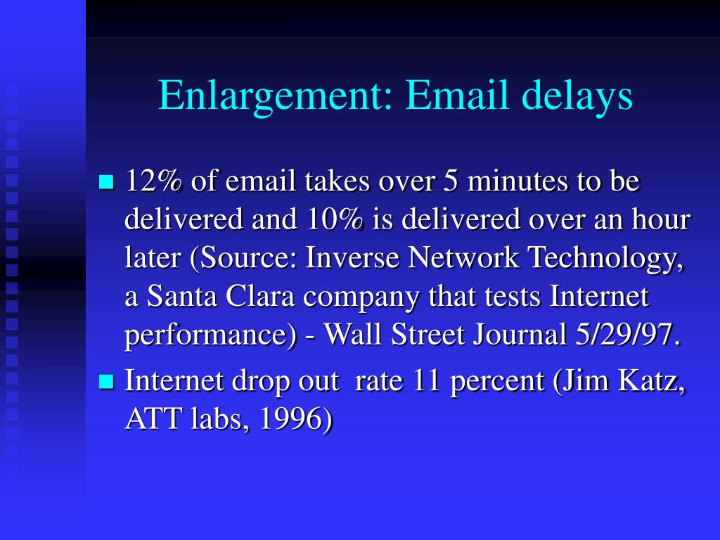 Enlargement: Email delays