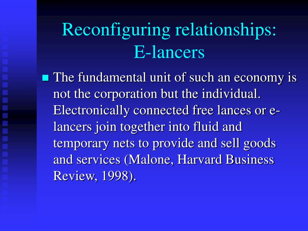 Reconfiguring relationships: