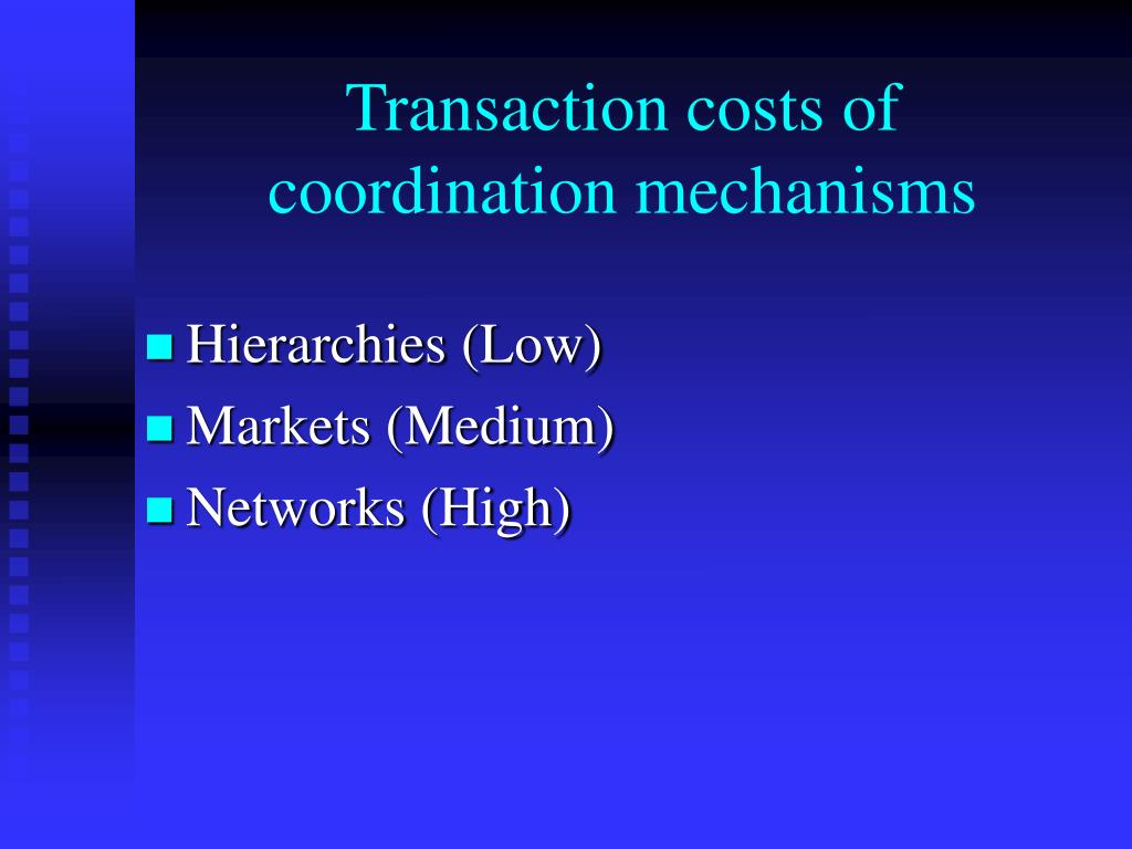 Transaction costs of