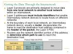 getting the data through the internetwork