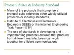 protocol suites industry standard
