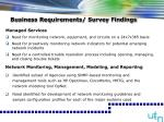 business requirements survey findings13