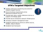 utn s targeted objectives