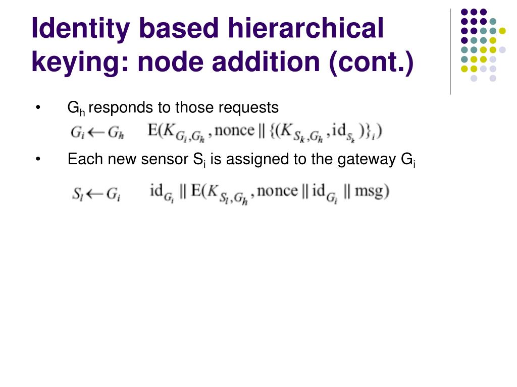 Identity based hierarchical keying: node addition (cont.)