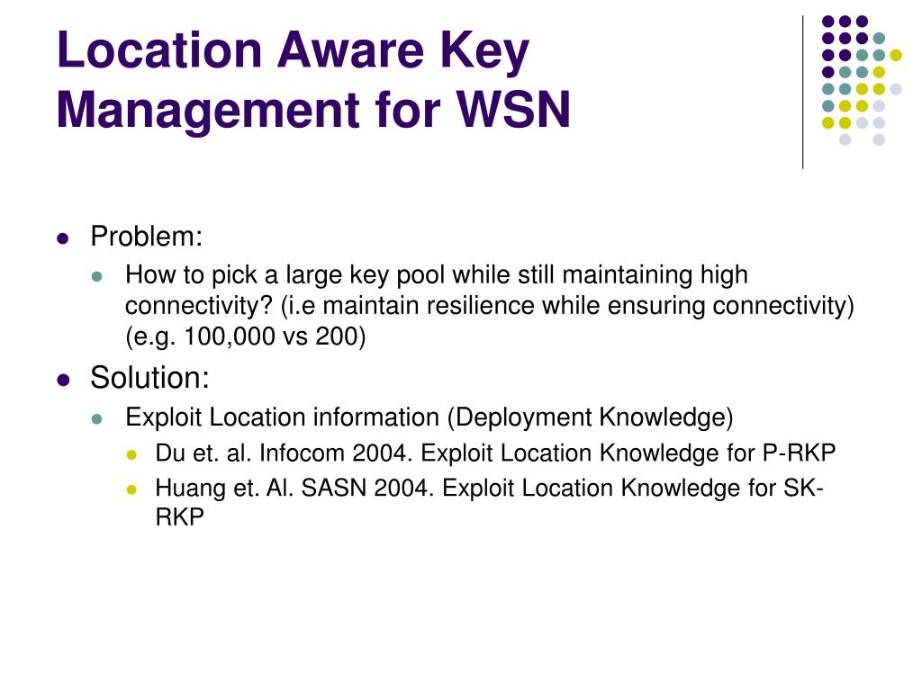 Location Aware Key Management for WSN