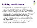 path key establishment