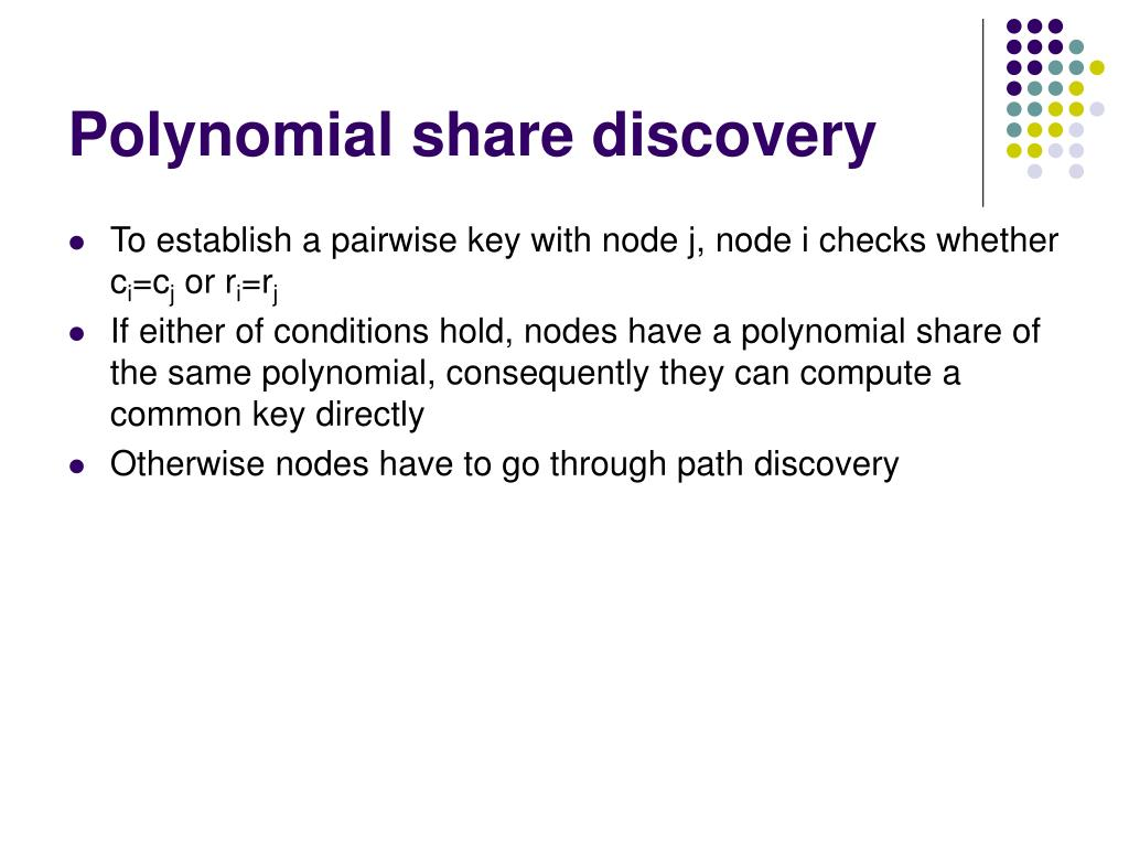 Polynomial share discovery