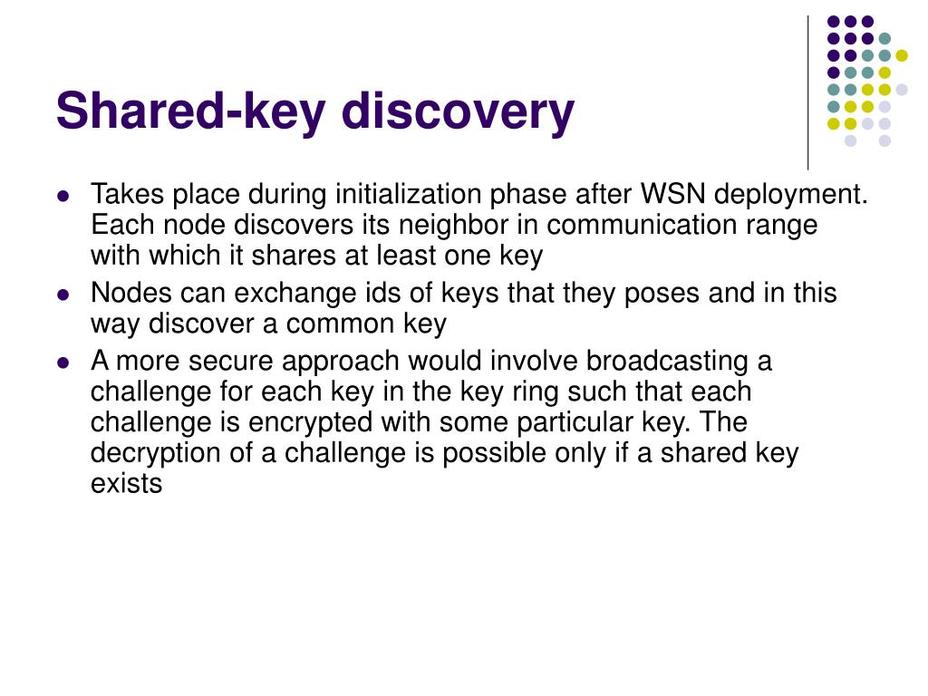 Shared-key discovery