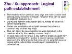 zhu xu approach logical path establishment