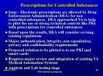 prescriptions for controlled substances