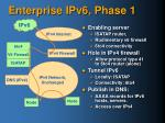 enterprise ipv6 phase 1