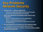 key problems network security