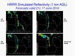 hrrr simulated reflectivity 1 km agl forecasts valid 21z 17 june 2010