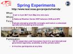 spring experiments http www nssl noaa gov projects hwt efp