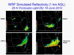 wrf simulated reflectivity 1 km agl 29 hr forecasts valid 05z 19 june 2010
