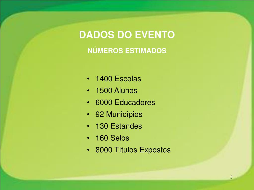 DADOS DO EVENTO