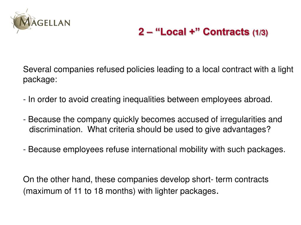 "2 – ""Local +"" Contracts"