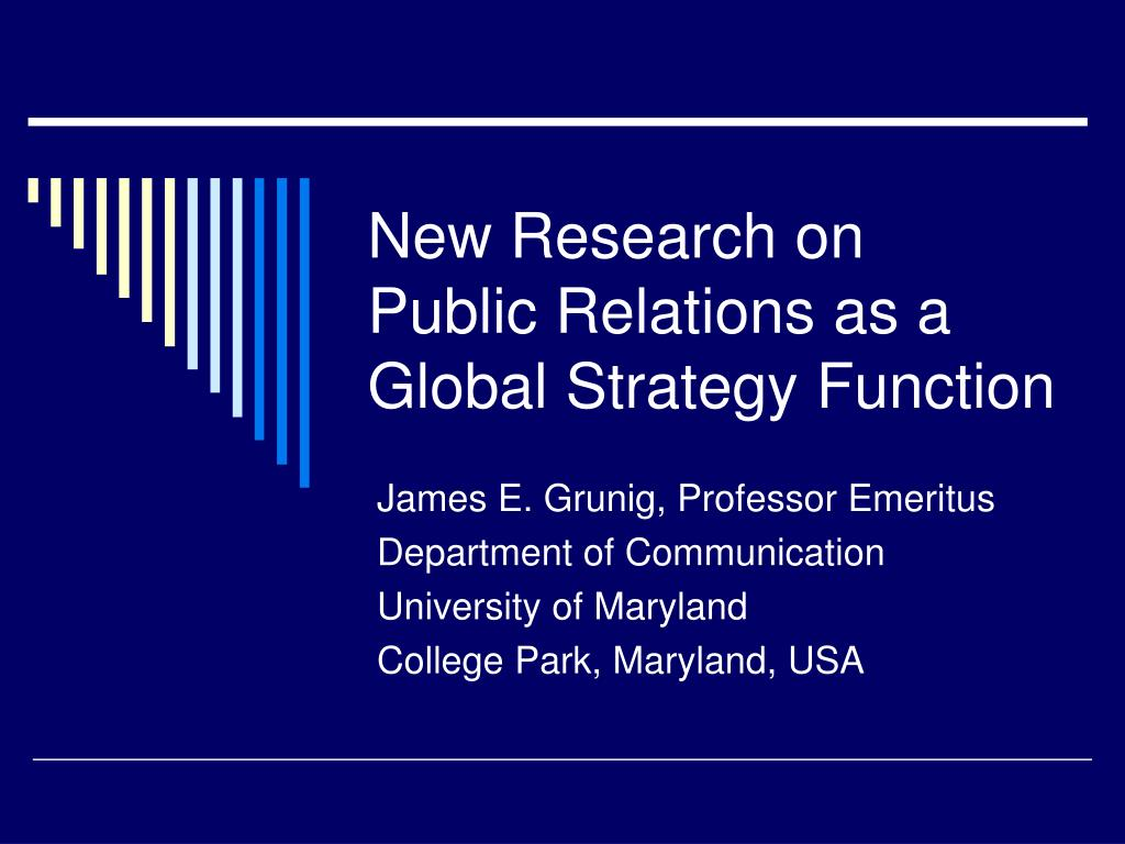 new research on public relations as a global strategy function l.