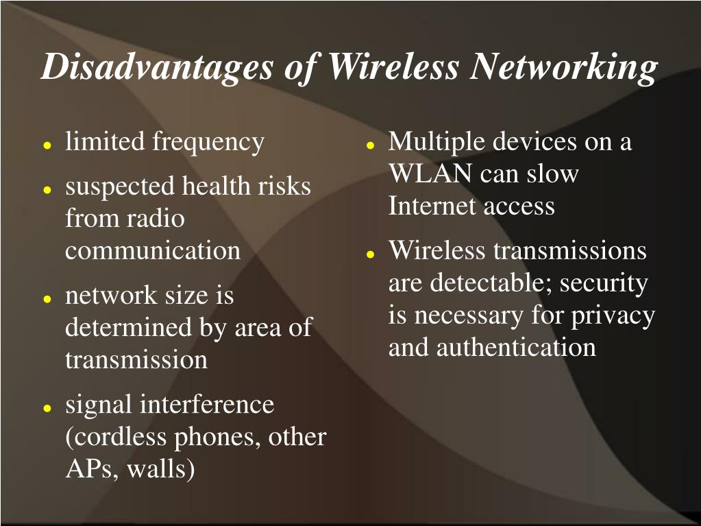 Multiple devices on a WLAN can slow Internet access
