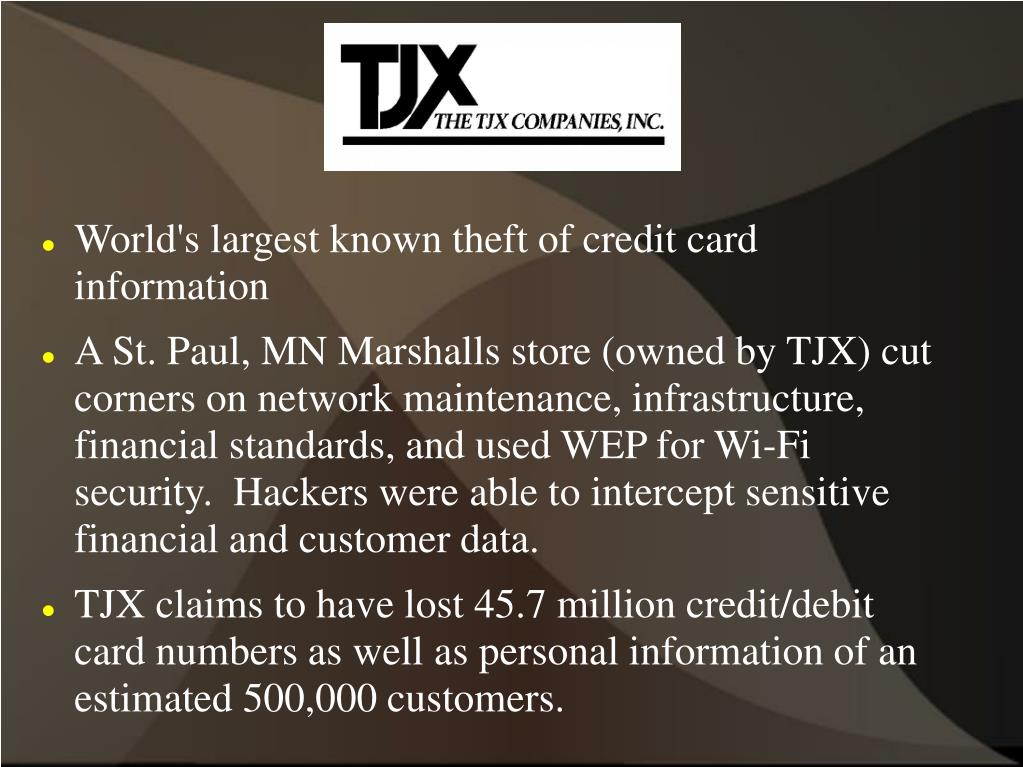 World's largest known theft of credit card information