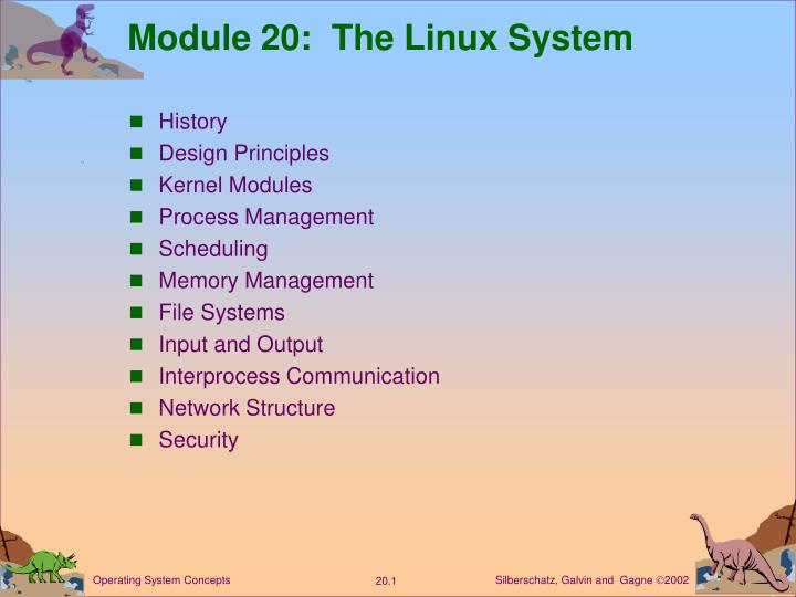Module 20 the linux system