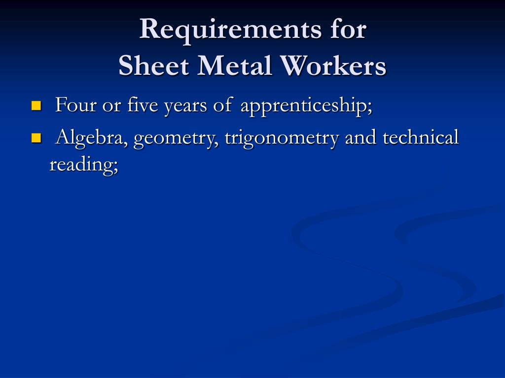 Requirements for