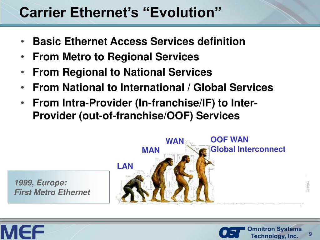 """Carrier Ethernet's """"Evolution"""""""