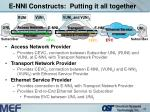 e nni constructs putting it all together
