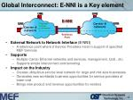 global interconnect e nni is a key element