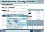 global services directory summary32