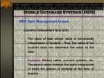 mobile database systems mds57