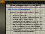 mobile database systems mds82