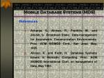 mobile database systems mds93