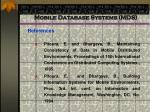mobile database systems mds96