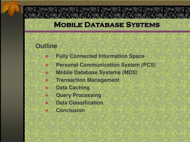 Mobile database systems2