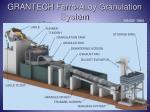 grantech ferro alloy granulation system